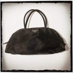 PRADA Black Nylon Small Handbag